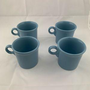 Set of 4 Fiesta Periwinkle Coffee Mugs Retired